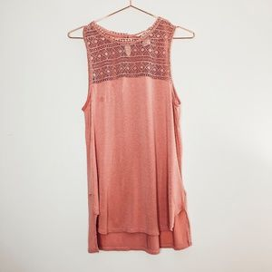 H&M Blush Pink Top with Crochet detail